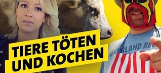 Tiere schlachten & kochen - Challenge mit Johnny Grillshow und Clean Eating Katharina