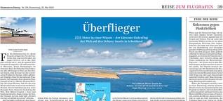 Über den Wolken der Orkney-Inseln: Der kürzeste Linienflug der Welt