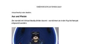 Aus und Phobie: Die Medizin profitiert von der virtuellen Realität