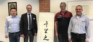 Chinesische Delegation besichtigt Orthopädieschuhtechnik