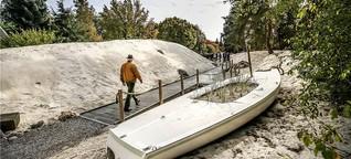 Meterhohe Dünen sorgen im Rombergpark für Nordsee-Flair