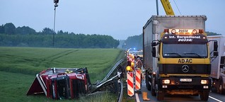 B178n bei Oberseifersdorf nach Lkw-Unfall stundenlang gesperrt | MDR.DE