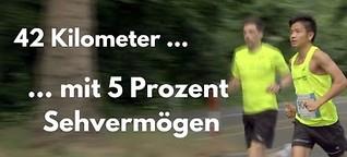 Reportage: Der fast blinde Marathonläufer