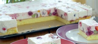 Joghurt Obstschnitten Rezept – Frischer und Fruchtiger Kuchen mit Obst