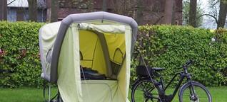 Fahrradanhänger B Turtle im Test: Der Wohnwagen fürs E-Bike
