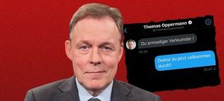 "In privater Nachricht an SPD-Mann wird Oppermann ausfallend: ""Du armseliger Verleumder"""