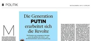 Die Generation Putin erarbeitet sich die Revolte
