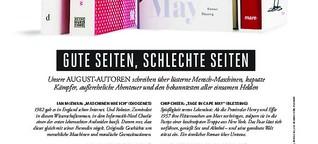 Literaturseite im Playboy 08/19