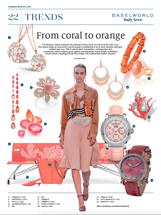 From Coral to Orange