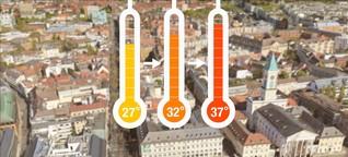 Karlsruhes Innenstadt könnte wegen Klimawandel fast fünf Grad heißer werden