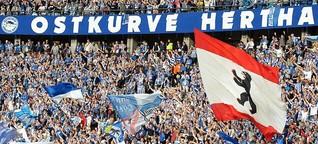 Auseinandersetzung zwischen Hertha-Fans und der Polizei