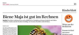 Biene Maja ist gut im Rechnen