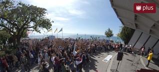 2000 Teilnehmer bei der Klimademo: Kinder, Eltern und Rentner schreien sich die Stimmen heißer
