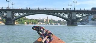 Spanien: Mit dem Kanu von Stadt zu Stadt paddeln