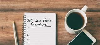 Gute Vorsätze: Das nimmt sich die FIT FOR FUN-Redaktion für 2019 vor - Bilder - FIT FOR FUN