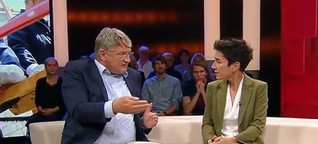 Gespräch mit Bürgern: Wie sich AfD-Chef Meuthen bei Hayali mit 2 Tricks aus der Affäre zog