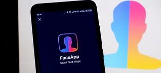 FaceApp: Faltige Gesichter und geklaute Daten