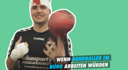 So sieht es aus, wenn Handballer im Büro arbeiten würden - watson