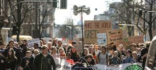 Schüler demonstrieren in Frankfurt für die Grüne Lunge