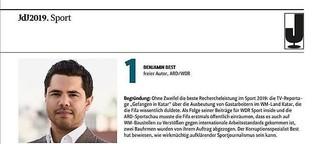 """Top 10 - """"Journalisten des Jahres 2019"""""""