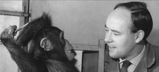 Der mit dem Affen malte