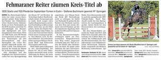 Fehmaraner Reiter räumen Kreistitel ab