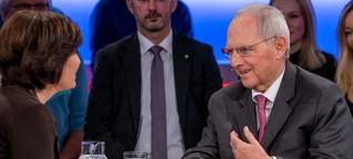 """""""Maischberger"""": Als es um Merz geht, will Schäuble nicht antworten - WELT"""