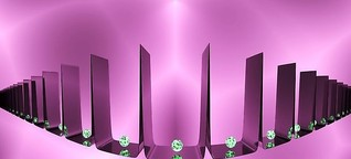 Two-toned light pattern creates steep quantum walls for atoms