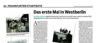 Wendegeschichte: Das erste Mal in Westberlin