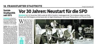 Vor 30 Jahren: Neustart für die SPD