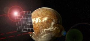 Raumfahrttechnik - Ein Satellit setzt Sonnensegel