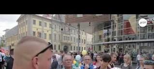 "Homophobe Kundgebung des ""Dritten Wegs"" in Erfurt"
