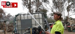 Feuer-Hölle Australien: Familienvater rettet Haus vor den Flammen