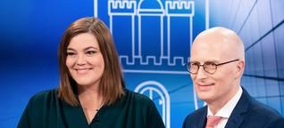 Hamburg-Wahl: Fegebank und Tschentscher im TV-Duell