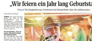 """Kai Wingenfelder über """"Fury"""" und treue Fans"""