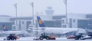 Es schneit in München - doch es ist nicht wie immer