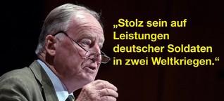+++Exklusive Recherche+++ Gauland findet, Deutsche sollten stolz sein auf Leistungen in zwei Weltkriegen