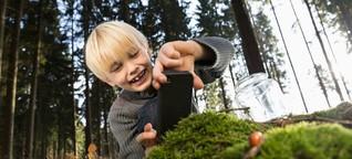 Wie Kinder die Natur mit dem Smartphone entdecken