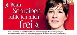 """Franka Potente über ihren ersten Roman """"Allmählich wird es Tag"""""""