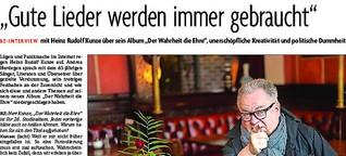 """Heinz Rudolf Kunze im Interview: """"Gute Lieder werden immer gebraucht"""""""