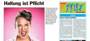 """""""Haltung ist Pflicht"""", sagt Kabarettistin Carolin Kebekus im Interview"""