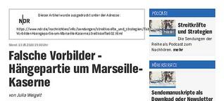 Audio: Namensgebung Marseille-Kaserne NDR info