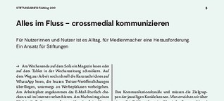 Alles im Fluss – Crossmedial kommunizieren
