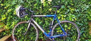 Mit dem Rennrad gegen den Wind