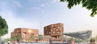 Bahnhofsquartier Opladen: Bepflanzte Dächer kühlen die Bahnstadt
