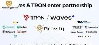 Tron Et Waves S'associent Pour Promouvoir L'adoption Massive De DeFi