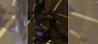 Schläge und Tritte durch Beamte: Video zeigt mögliche Polizeigewalt in Frankfurt