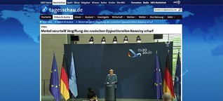 "Fall Nawalny - Merkel verurteilt ""versuchten Giftmord"""