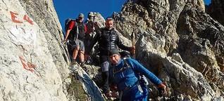 Geseker wandern zu Fuß über die Alpen