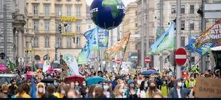 """Demo in Wien: """"Es gibt keine Impfung gegen den Klimawandel"""""""